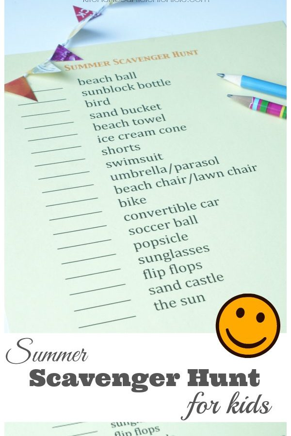 Super Awesome Summer Scavenger Hunt for Kids