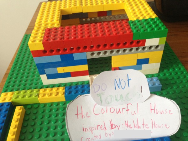 lego colourful house
