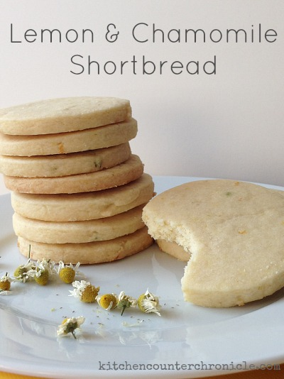 lemon and chamomile shortbread