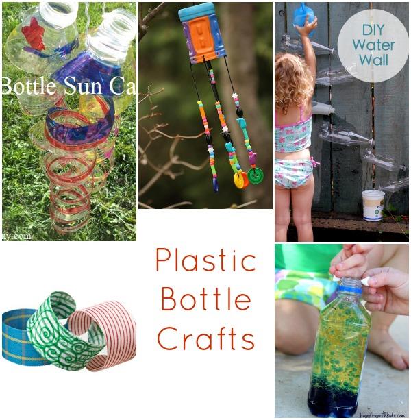 25 recycled crafts for kids for Recycled crafts for kids plastic bottles