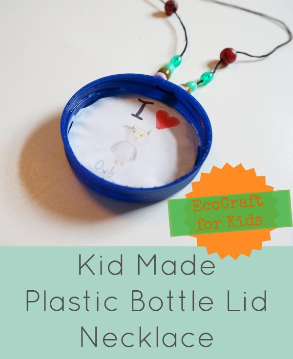 plastic bottle lid necklace