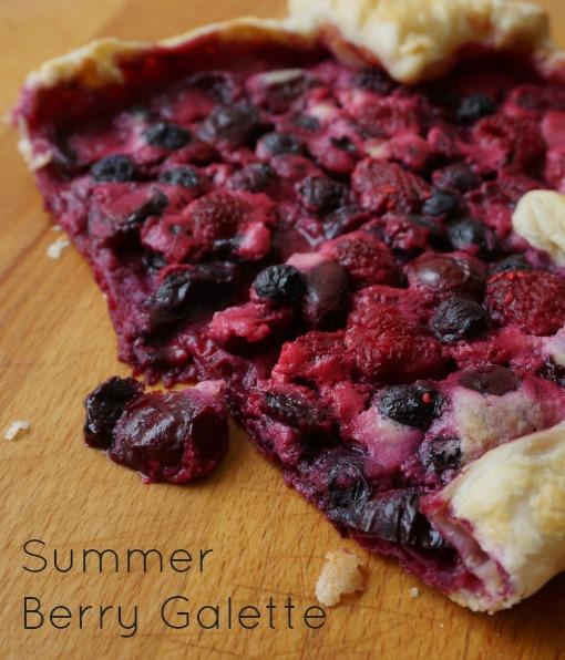 summer berry galette