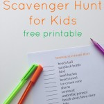 Summer Scavenger Hunt for Kids