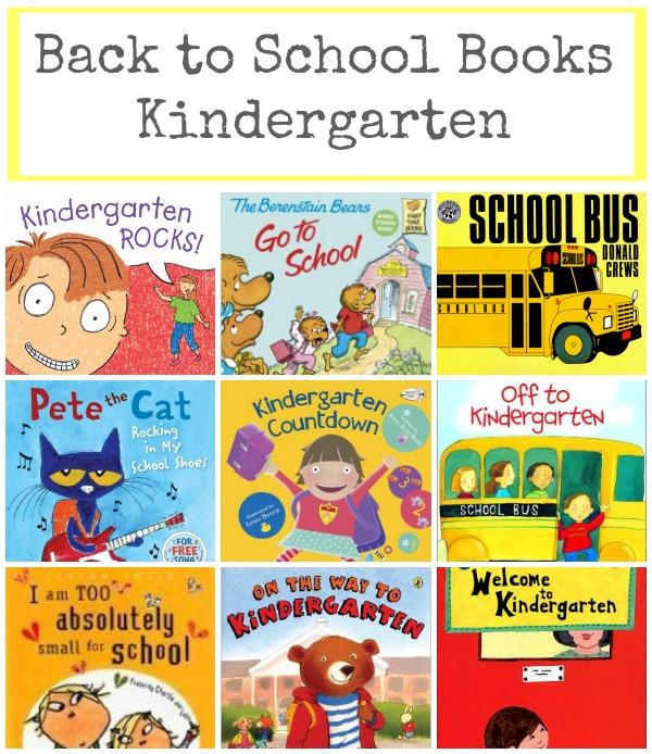 back to school books kindergarten