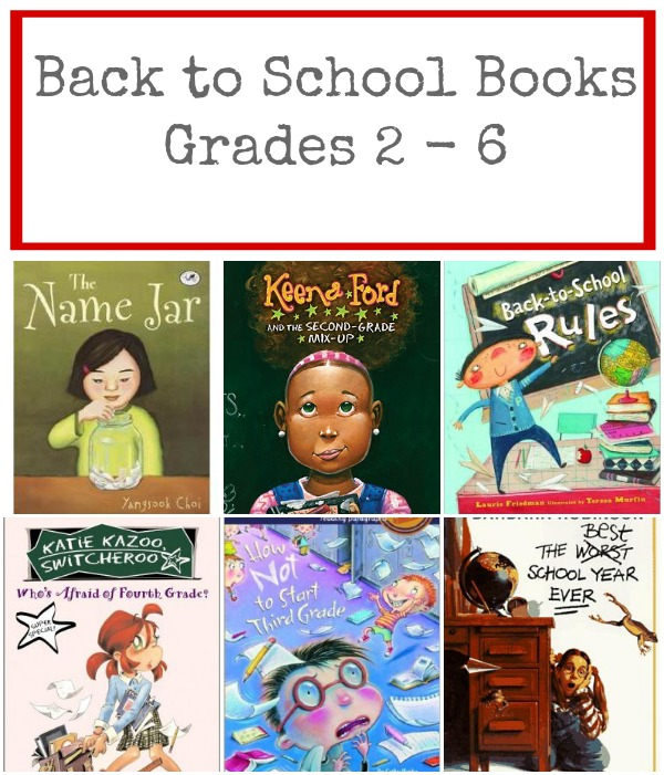 back to school books grades 2 thru 6