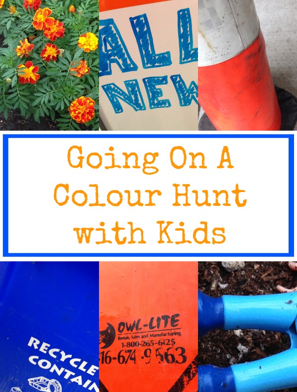colour walk with kids