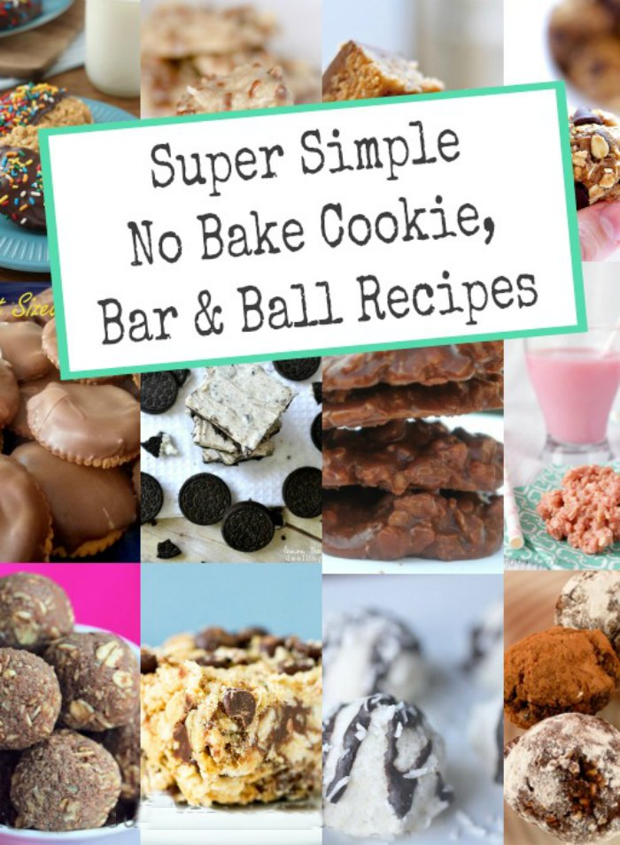 No Bake Cookies, Bar and Ball Recipes - Keep the oven off this summer and mix up a batch of these delicious treats. | Summer Baking | Chocolate Recipes | Cookie Recipes | Bar Recipes | Ball Recipes |