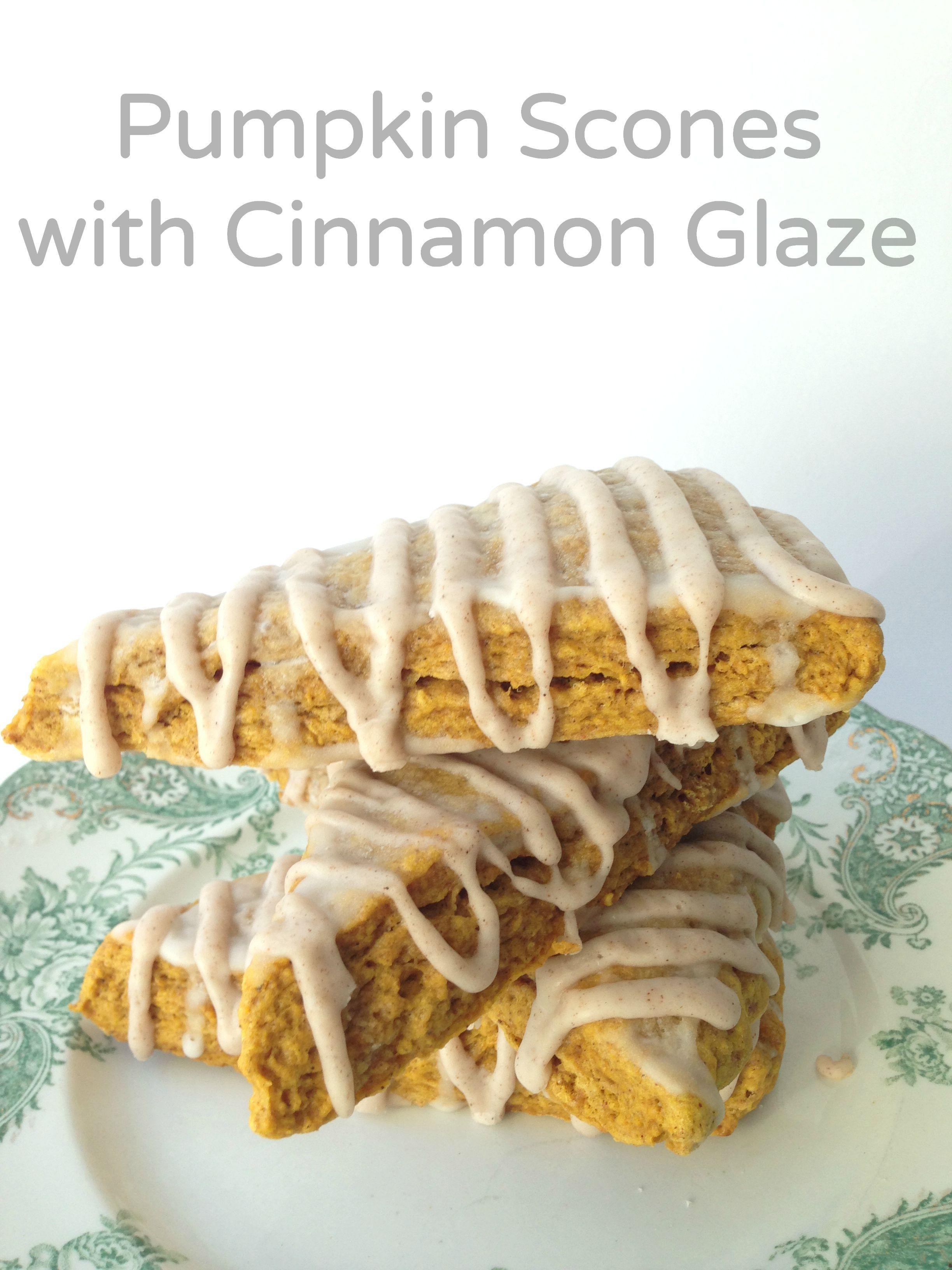 pumpkin scones with cinnamon glaze