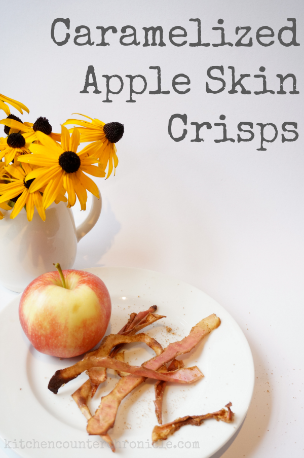 Caramelized Apple Skin Crisps