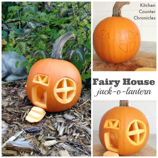 fairy house jack o lantern