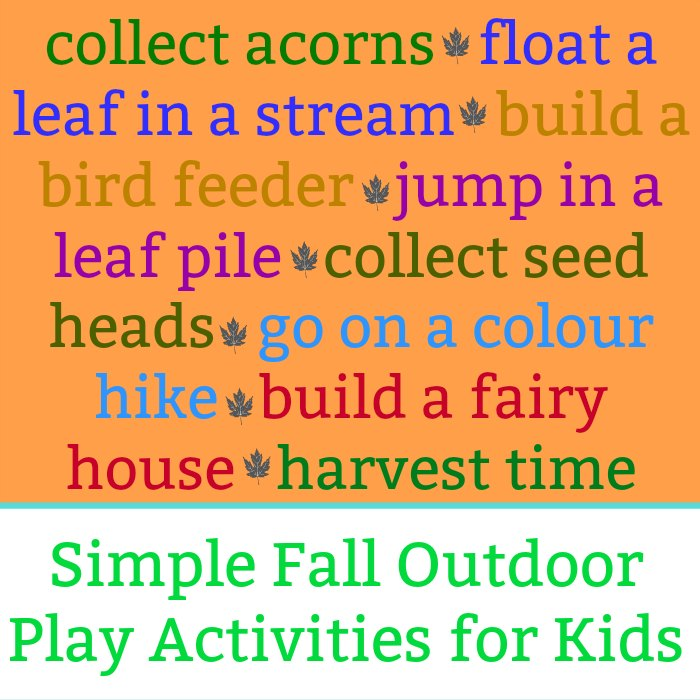 Simple Fall Outdoor Play Activities for Kids and Families