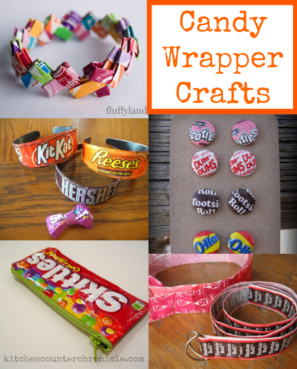 Candy Wrapper Crafts & What to do with the Halloween Candy