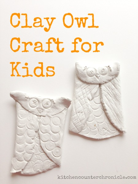 clay owl craft for kids