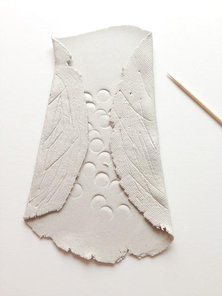 clay owl wings