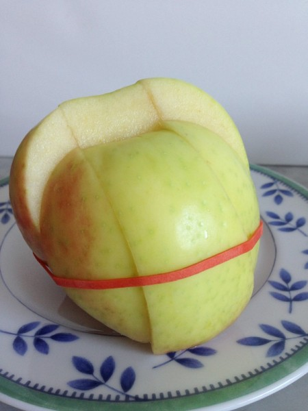 elastic sliced apple