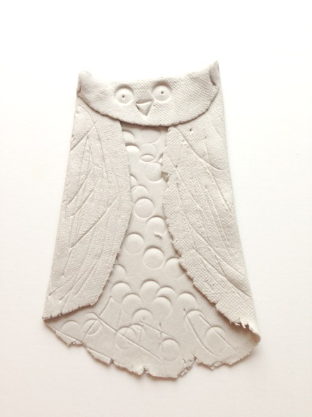 finished clay owl craft