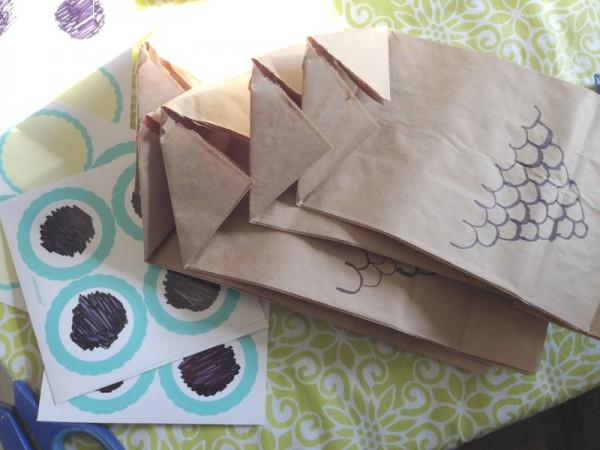 owl loot bag supplies