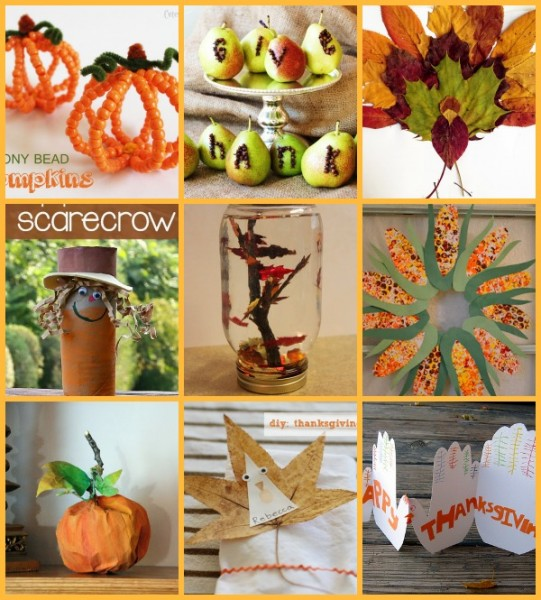 thanksgiving table crafts for kids