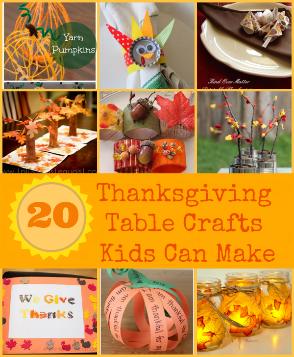 Thanksgiving Table Crafts Kids Can Make