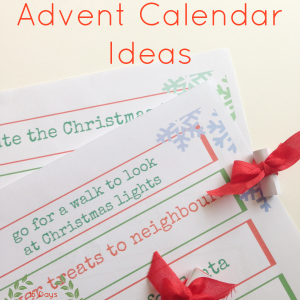 eco friendly advent calendar ideas