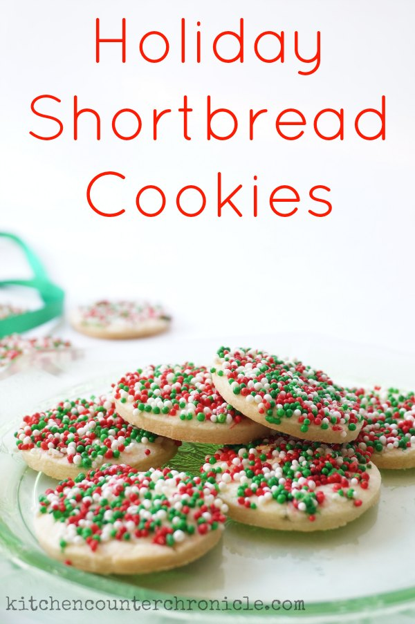 holiday shortbread cookies