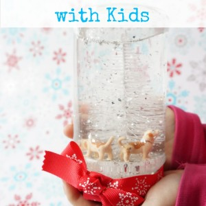 snow globe with kids