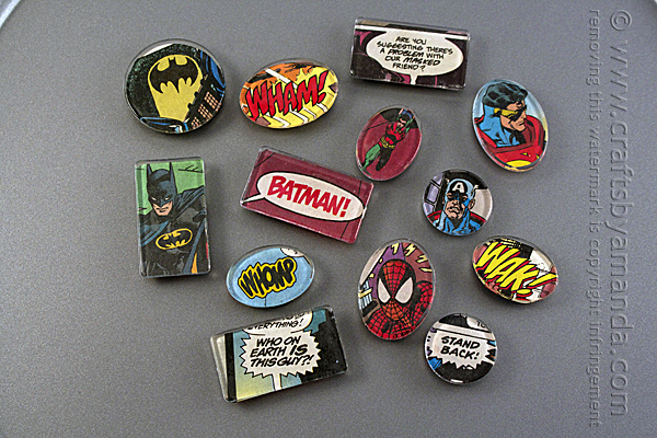comic book magnets