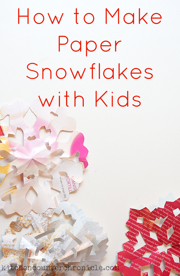 How to make paper snowflakes with kids for How to make a real paper snowflake