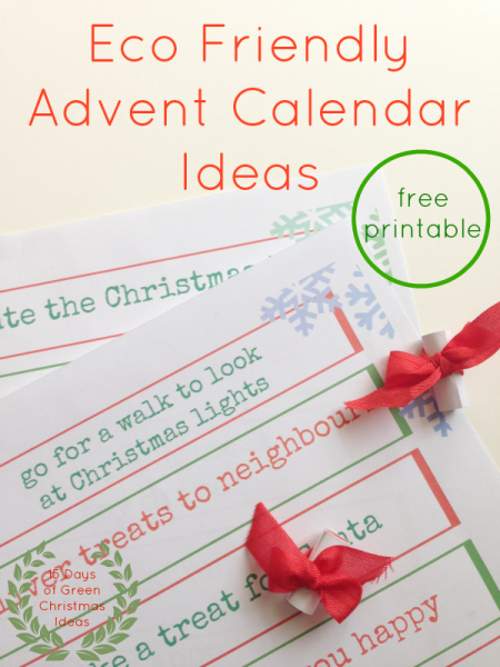 eco friendly advent calendar ideas
