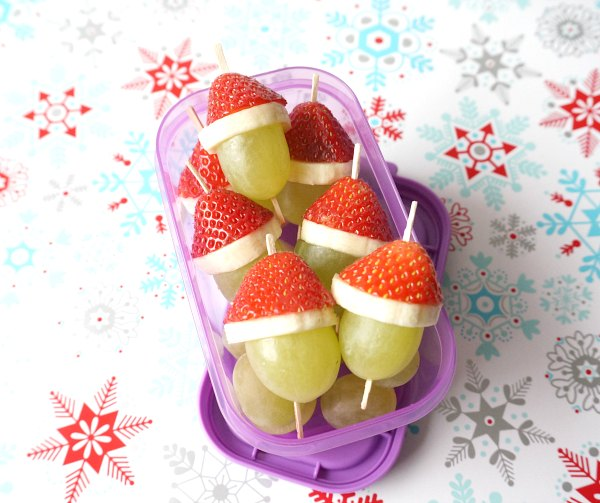 grinch grapes with strawberries