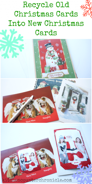 recycle old christmas cards
