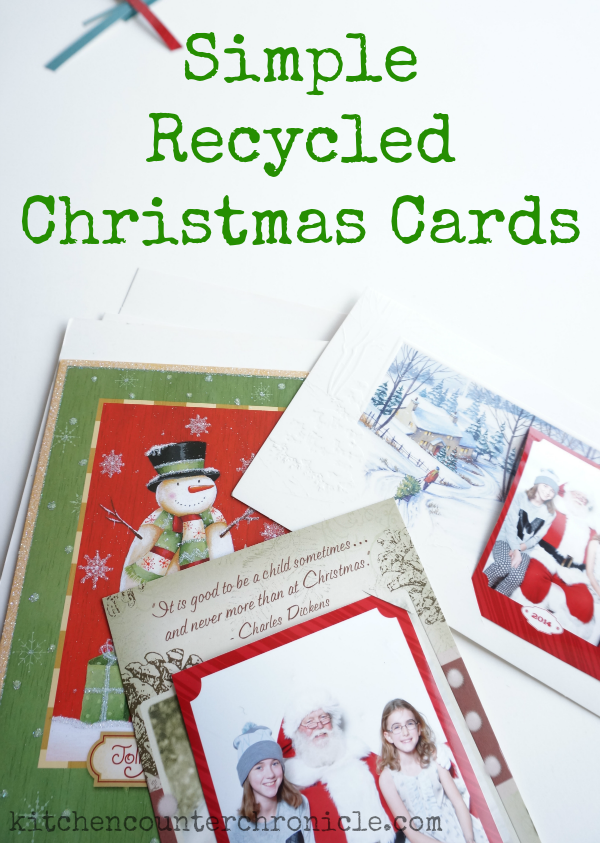 Simple Recycled Christmas Cards
