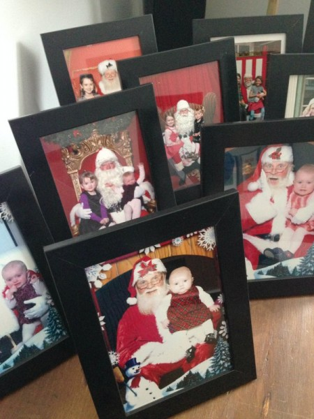 santa pictures framed