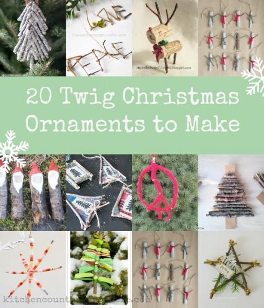 Twig Christmas Ornaments - There are so many lovely Christmas ornaments that can be made from simple twigs. Get outside and gather up your craft supplies with the kids. | Christmas Craft | Christmas Ornament Craft | Nature Craft | Christmas Craft for Kids |
