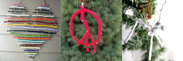 christmas twig ornaments