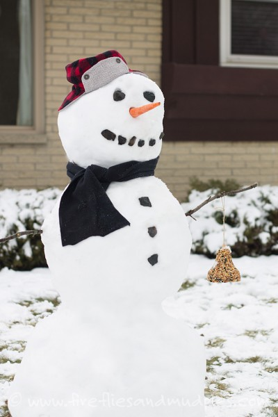 nature snowman for kids