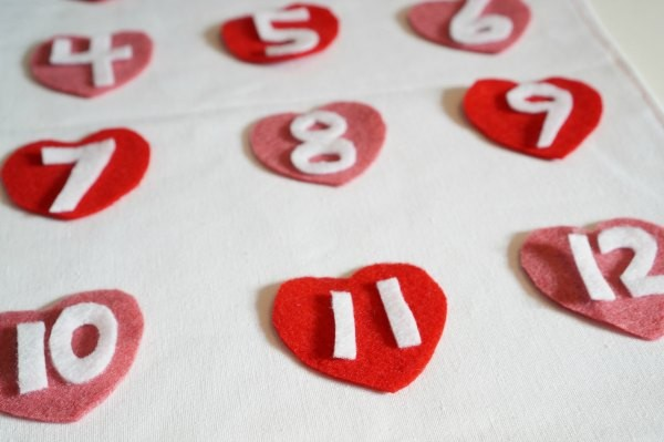 hearts with numbers