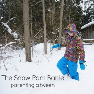 the snow pant battle tween