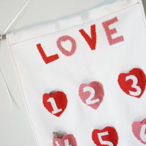 valentine's day countdown square