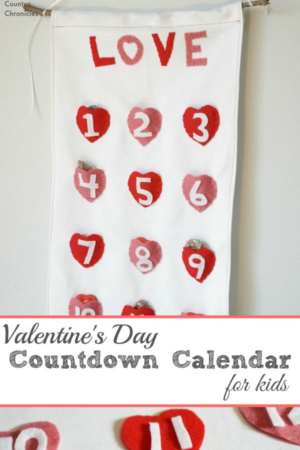 Valentine's Day Countdown Calendar for Kids