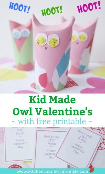 Love these Kid Made Owl Valentine's and free printable Valentine's Day cards for kids - So much fun to make and share. #ValentinesDay #ValentinesDayforkids #Freeprintable #ValentinesDay #owlcraft #owlcraftforkids #craftsforkids