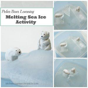 Polar Bear Learning Activity for Kids - Melting Sea Ice