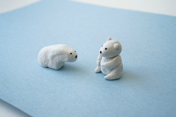 polar bear activity made from clay