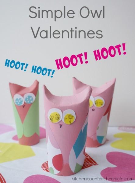 simple owl valentines