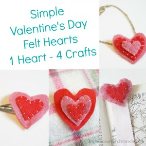 valentines day felt hearts