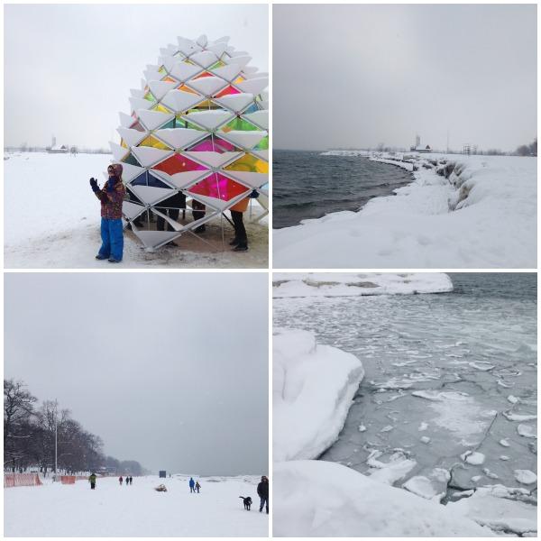 winter beach art