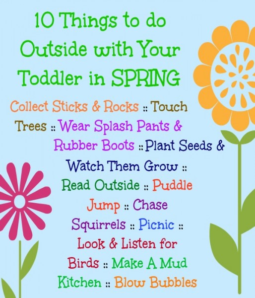10 things to do outside with toddler in spring