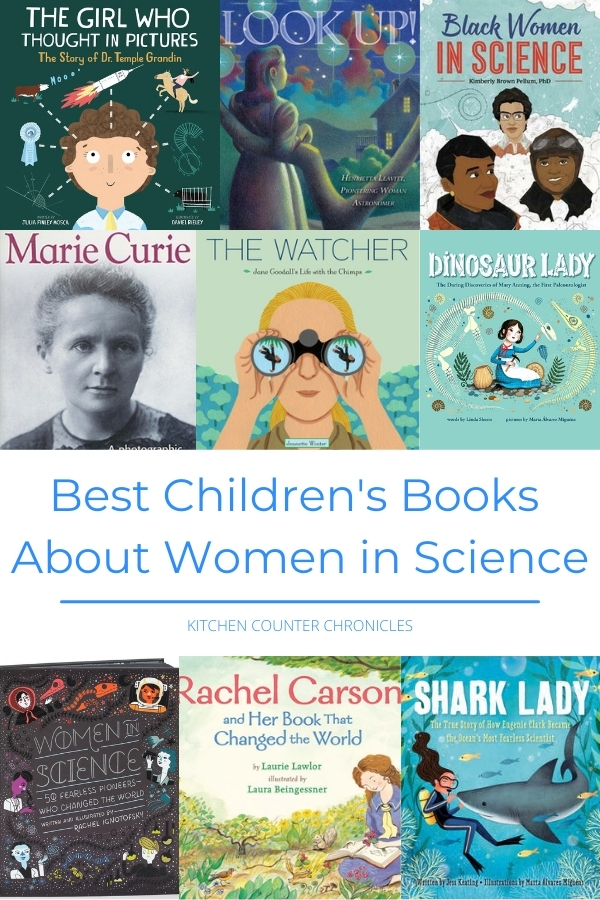 Best Children's Books About Women in Science collage of books