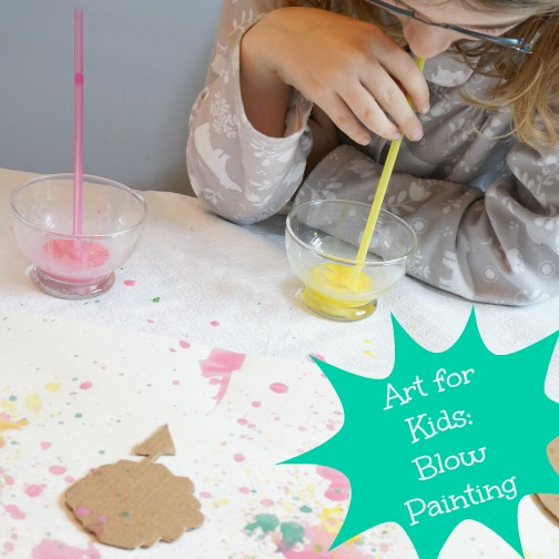 blow painting art for kids