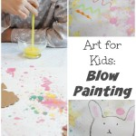 Art for Kids: Blow Painting